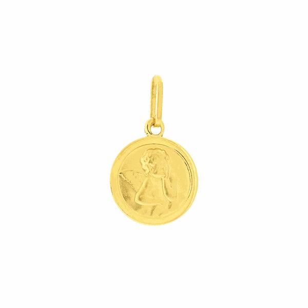 Medalha Anjo da Guarda em Ouro 18K Pequena