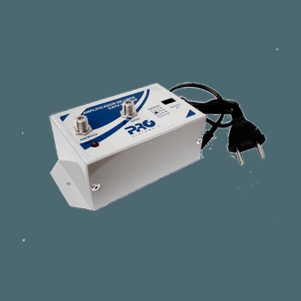 Amplificador de Linha VHF / CATV / UHF HDTV TV Digital 25dB