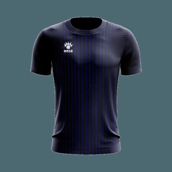 Camisa Jogo - Marinho com listras verticais