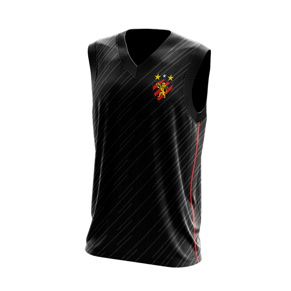 Camisa Regata Torcedor - Sport Preta
