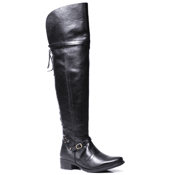 5d1dd659832ce Bota Montaria Feminina Dara Over Knee Couro Preto | TCHWM SHOES