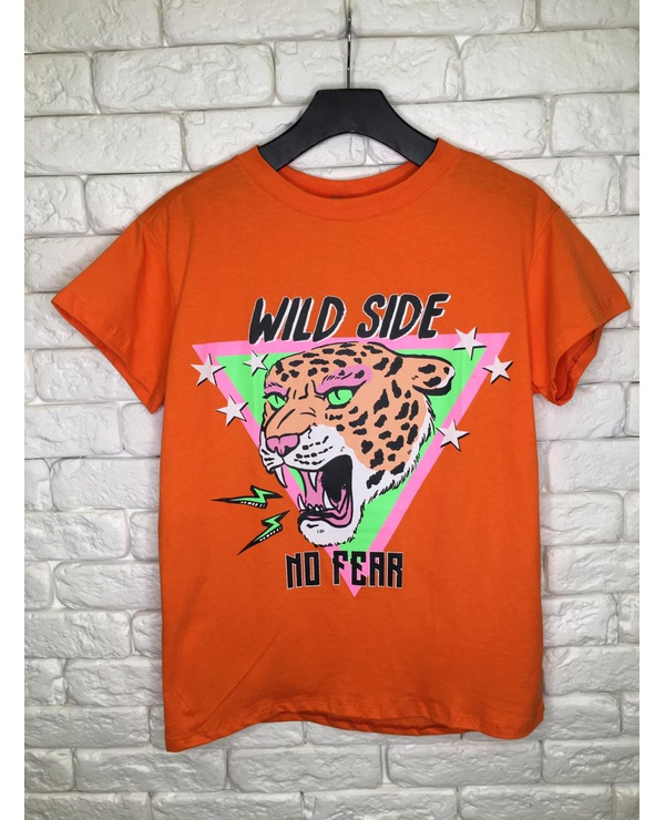T-SHIRT WILD SIDE - CORAL