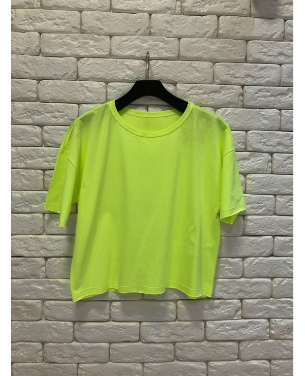 T-SHIRT CROPPED - LIMA NEON