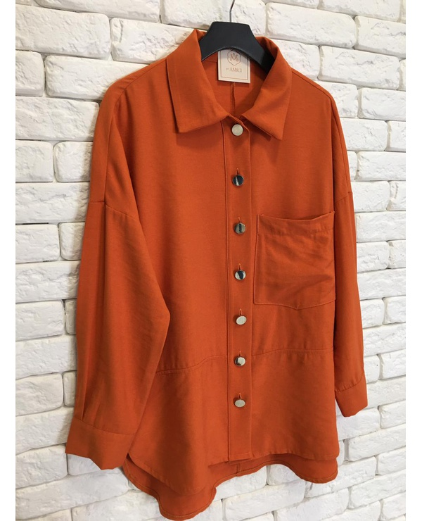CAMISA OVER CAMILA - CORAL