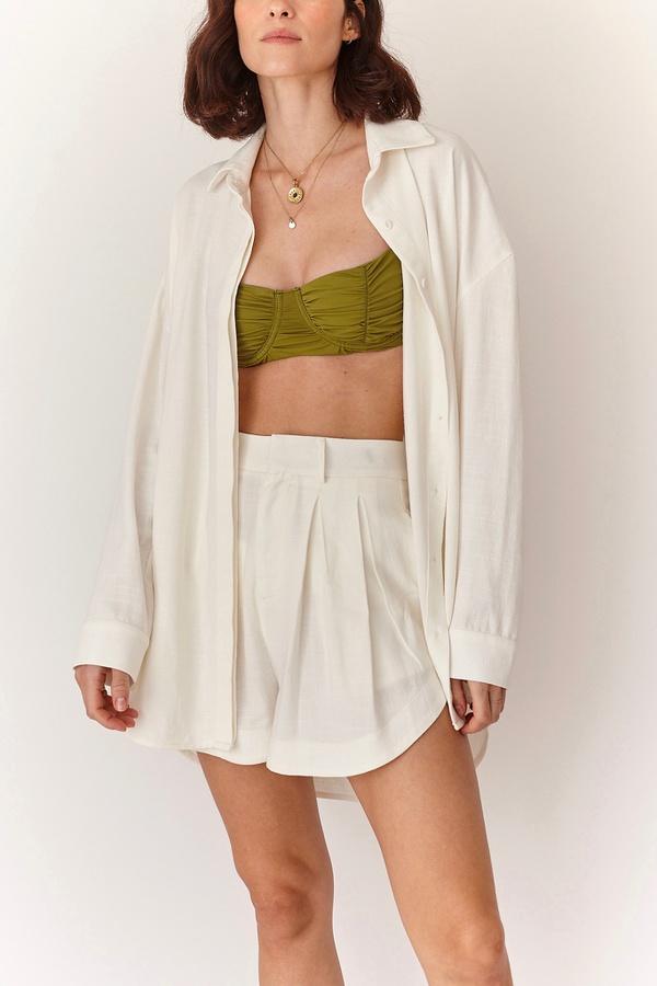 Camisa Tay Linho Off White