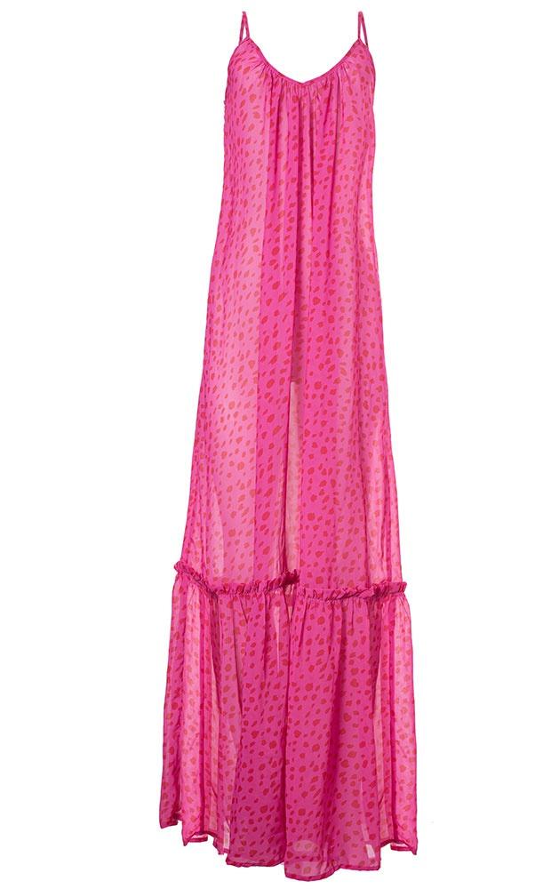 Donna Pink - Vestido Longo Estampado - LEFAH