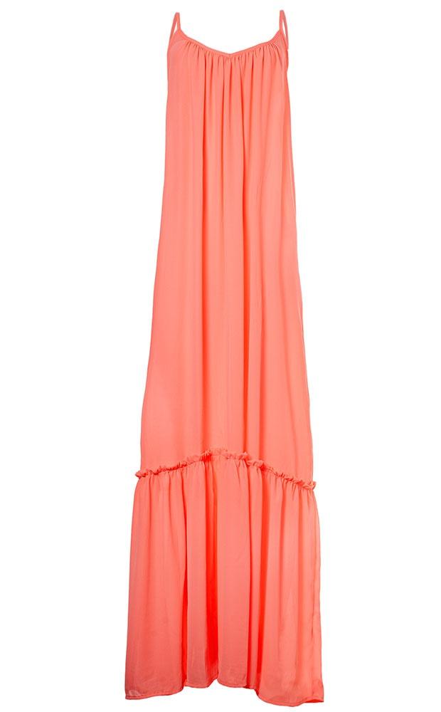 Candy - Vestido Longo Coral Neon - LEFAH