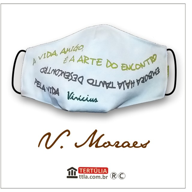 Máscara Poética Vinicius - Branca