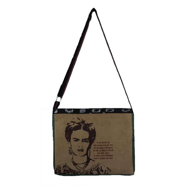 Bolsa Notebook Frida Kahlo Preta