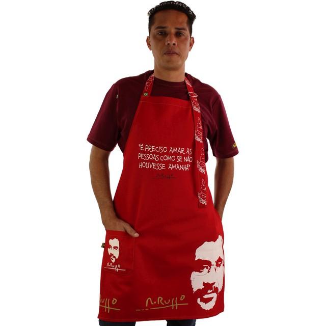 Avental Renato Russo Vermelho