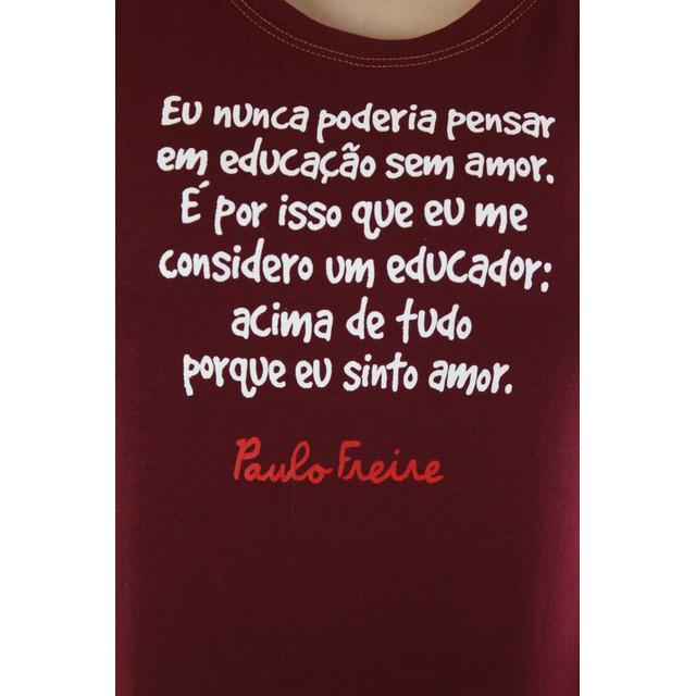 Babylook Paulo Freire Bordô