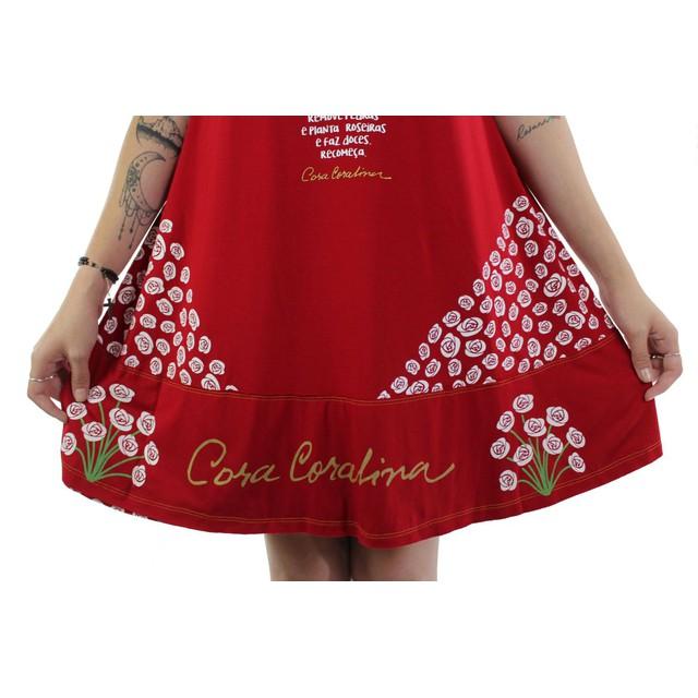 Vestido Cora Coralina Vermelho