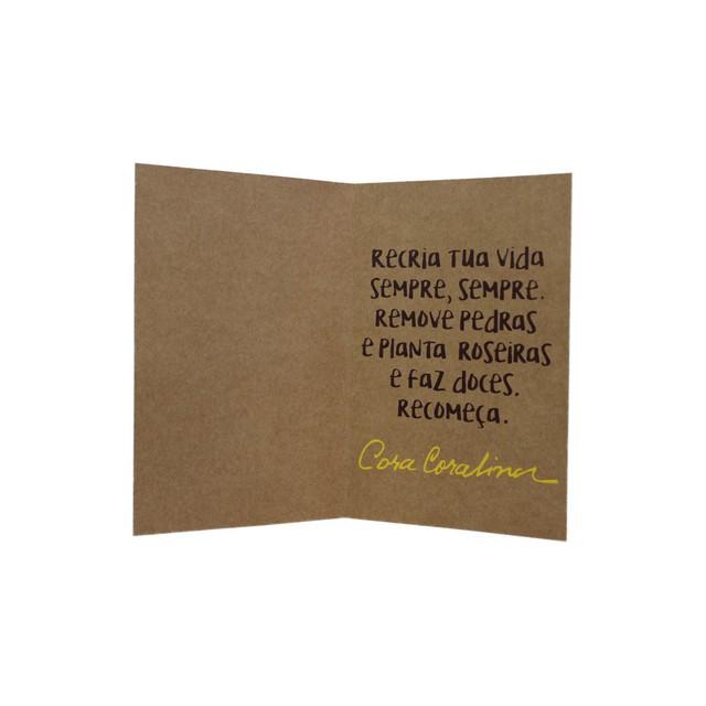 Cartão Cora Coralina