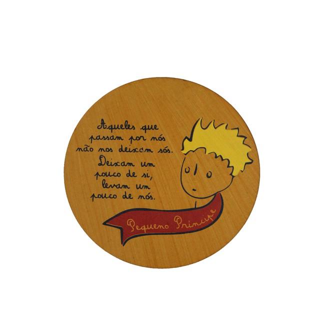 Quadrinho Redondo Pequeno Príncipe