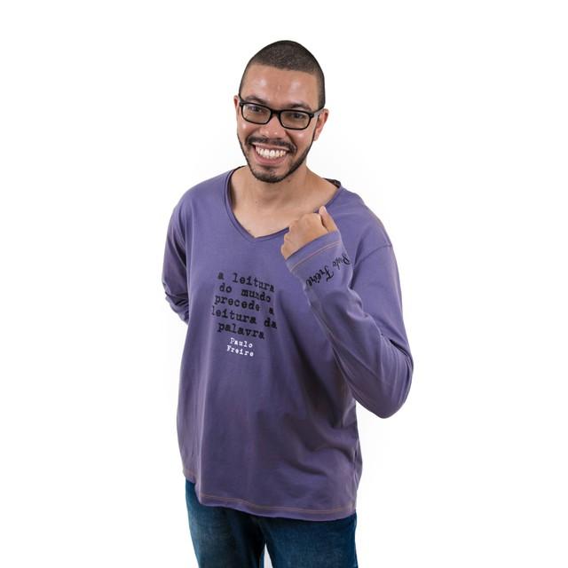 Camiseta Manga Longa Paulo Freire
