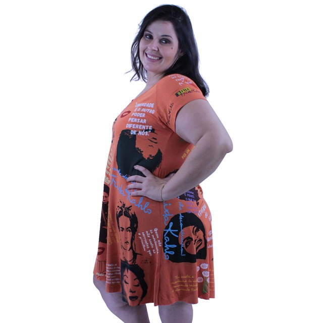 Vestido Coleção Mulheres Laranja