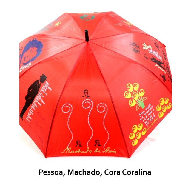 GUARDA-CHUVA LITERÁRIO - vermelho