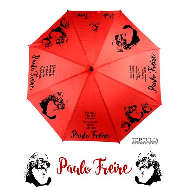 GUARDA-CHUVA PAULO FREIRE - Vermelho