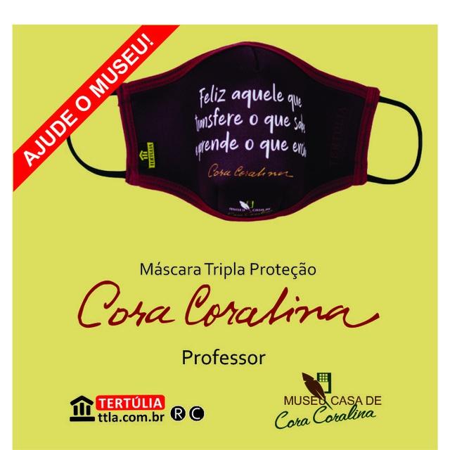 Máscara Cora Coralina Tripla Camada Professor - Vinho