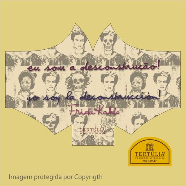 Máscara Poética Frida Kahlo Desconstrução Tripla Camada - Cru