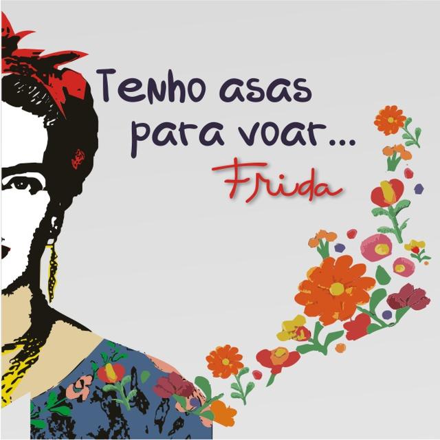 Máscara Poética Frida Kahlo Asas Tripla Camada - Cinza