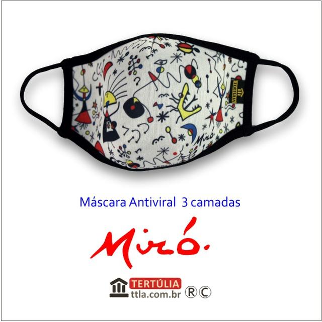 Máscara Poética Miró Tripla Camada - Branca