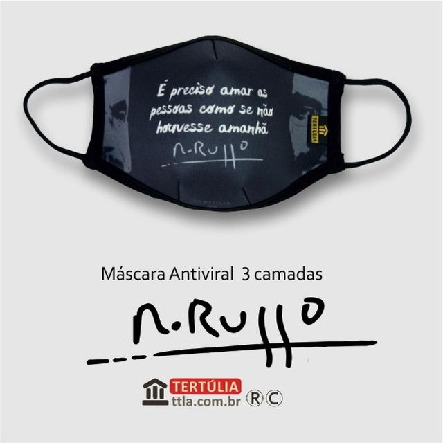Máscara Poética Renato Russo Pais e Filhos Tripla Camada - Chumbo