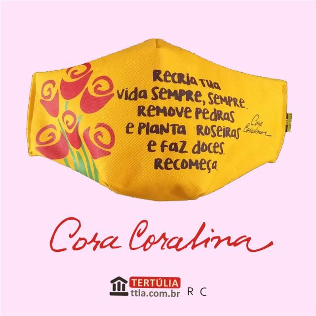 Máscara Poética Cora Coralina - Recria