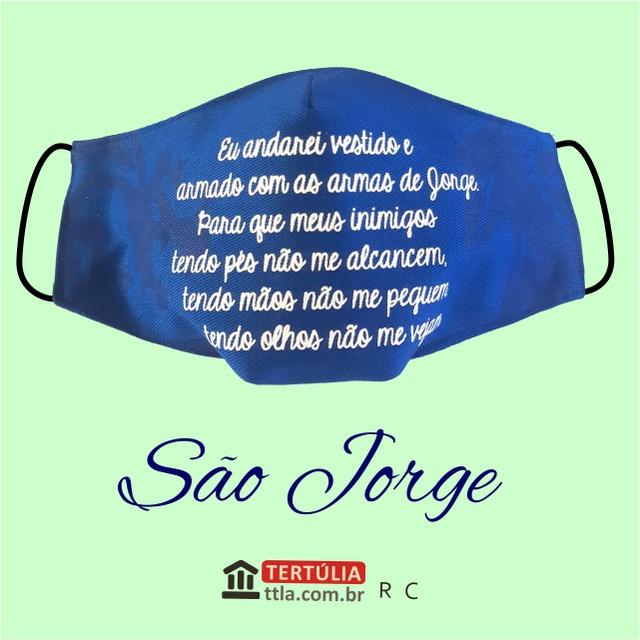 Máscara Poética Sâo Jorge Ogum - Azul