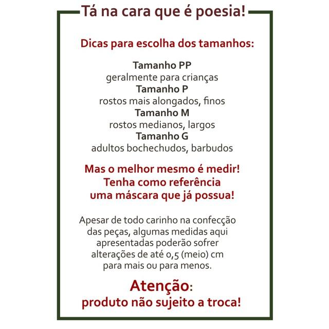 Máscara Poética Nicolas Behr Ipês - Branca