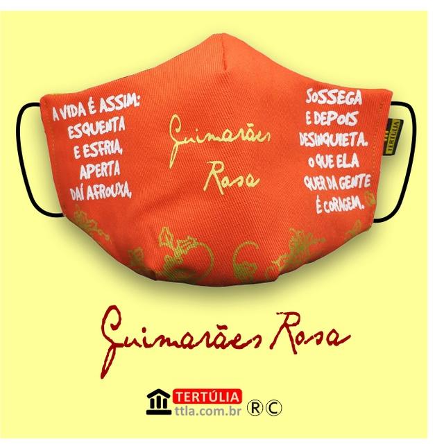 Máscara Poética Guimarães Rosa - Laranja