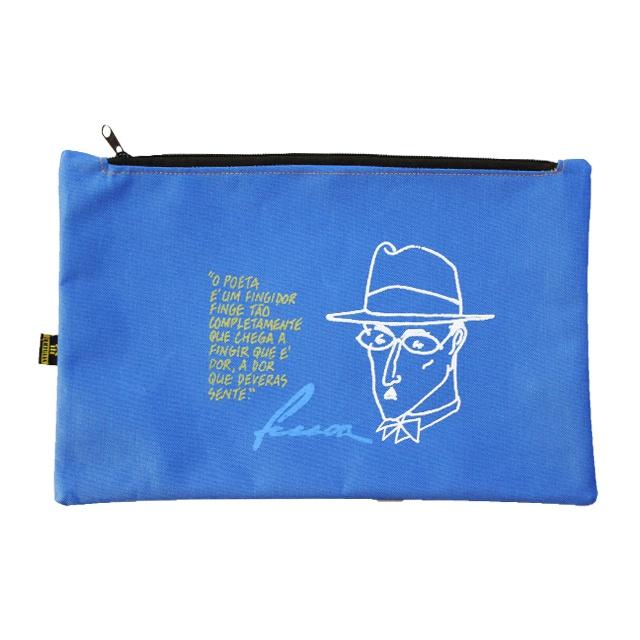 Nécessaire Fernando Pessoa Azul