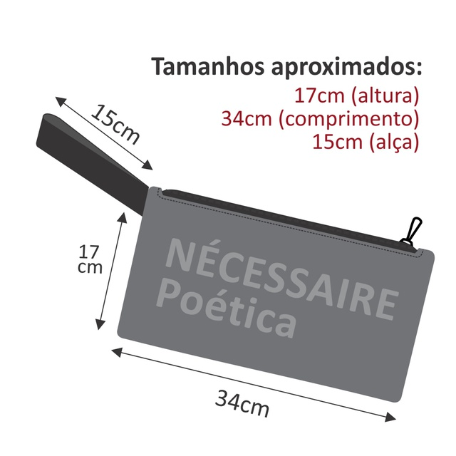 Nécessaire Fernando Pessoa - Cinza