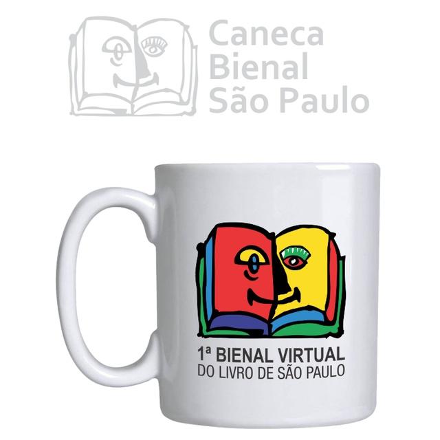 Caneca Bienal Virtual do Livro de São Paulo