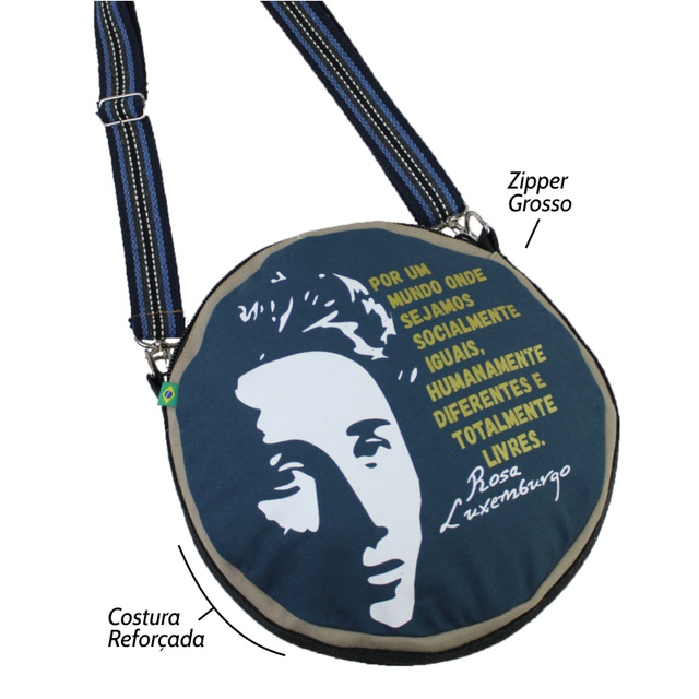 Bolsa Cantil Rosa Luxemburgo Marinho