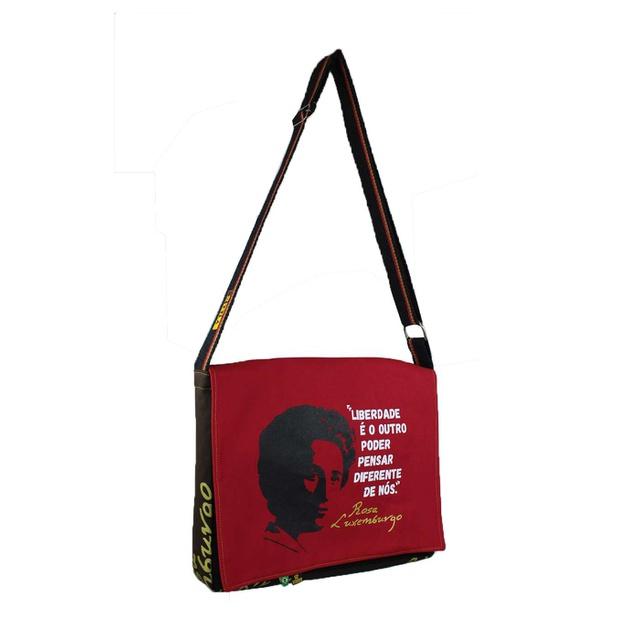 Bolsa Notebook Rosa Luxemburgo Vermelha