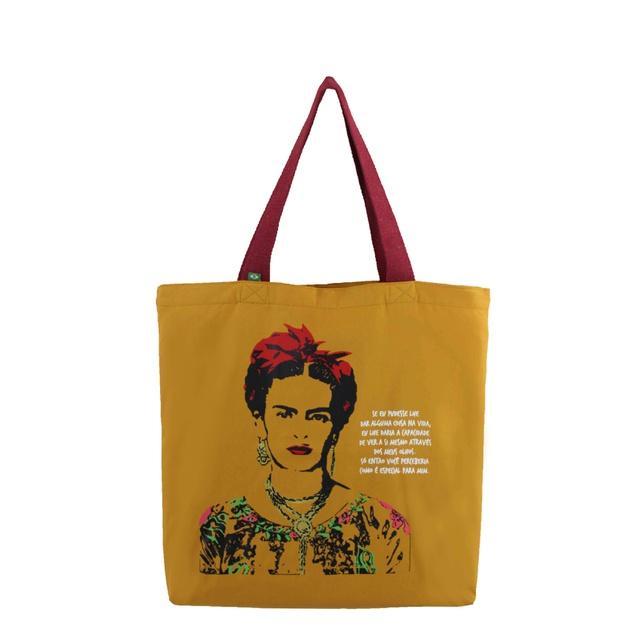 Bolsa Frida Kahlo Olhos Mostarda