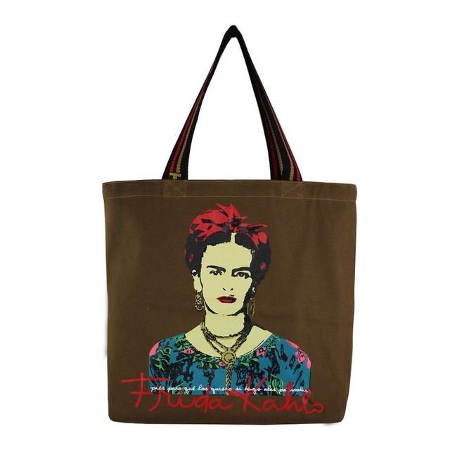 Bolsa Frida Kahlo Píes Marrom