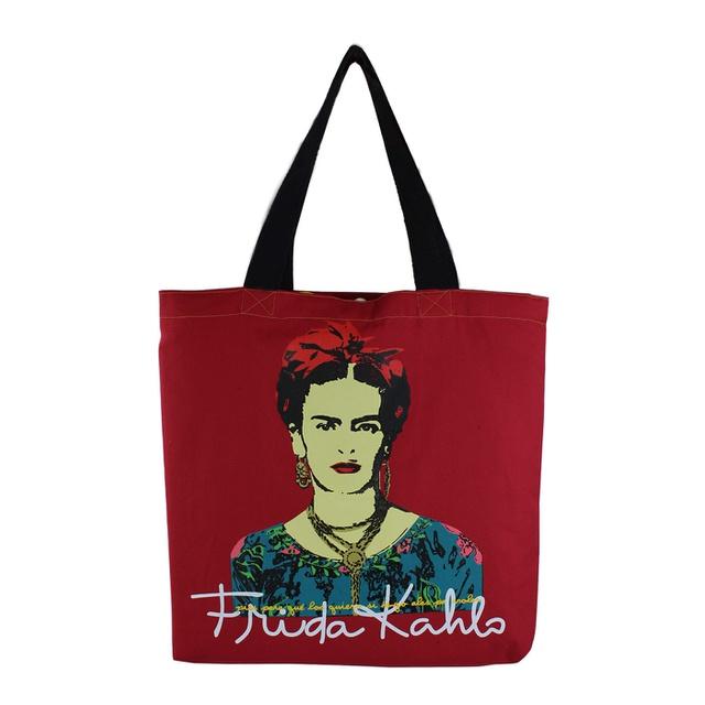 Bolsa Frida Kahlo Píes Vermelha