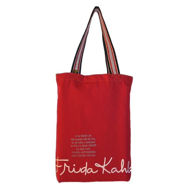 Bolsa Frida Kahlo Vermelha - Olhos
