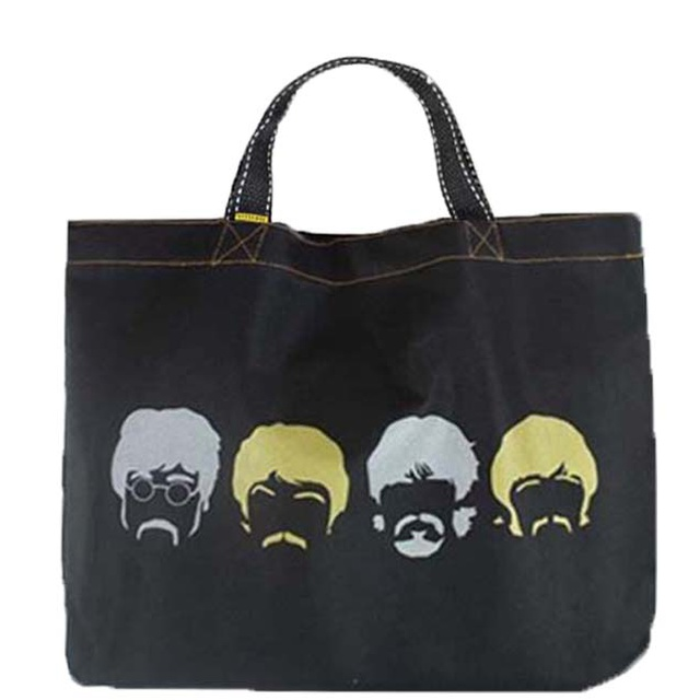 Book Bag Beatles Preta