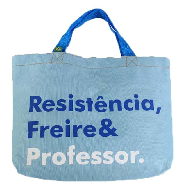 Book Bag Freire e Professor Azul Claro