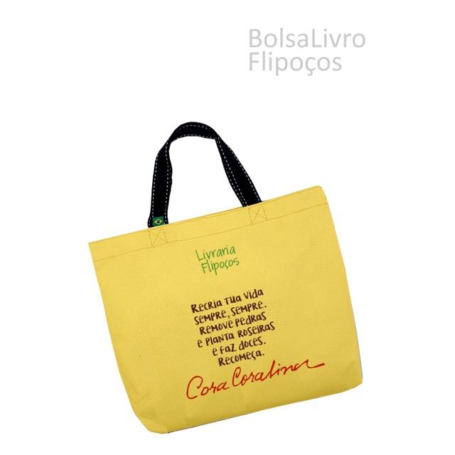 Bolsa Livro Flipoços amarela