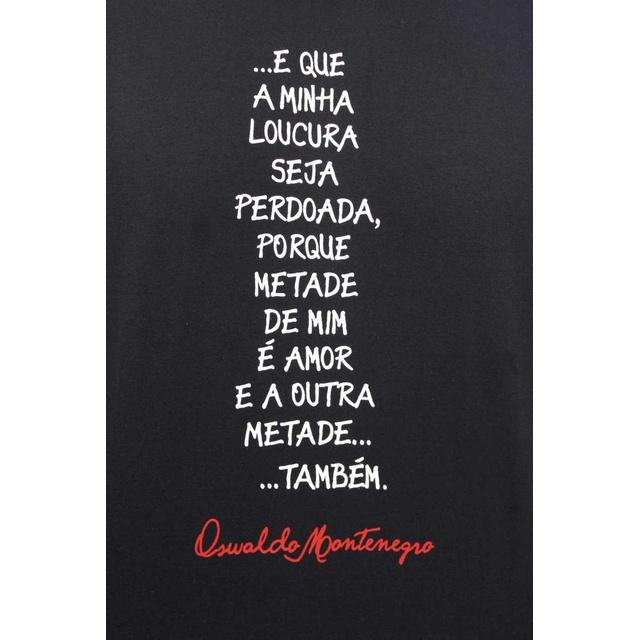 Camiseta Oswaldo Montenegro Preta