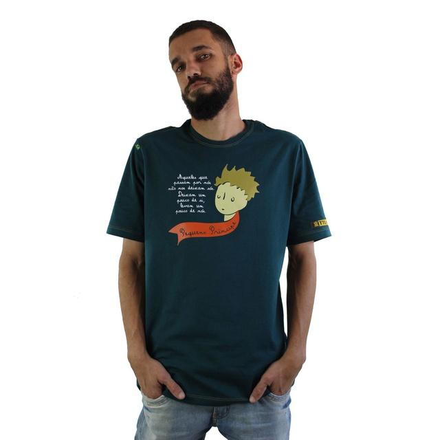 Camiseta Pequeno Príncipe Verde Musgo