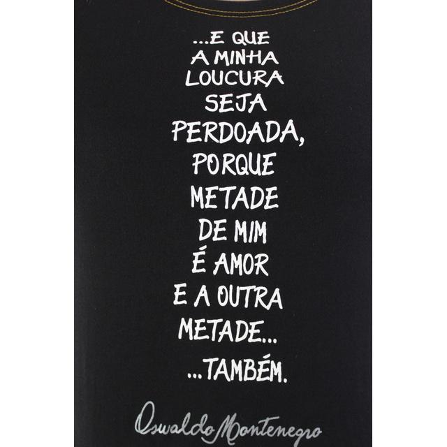 Babylook Oswaldo Montenegro Preta