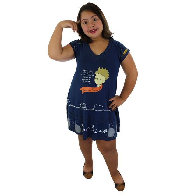 Vestido Pequeno Príncipe Azul Marinho