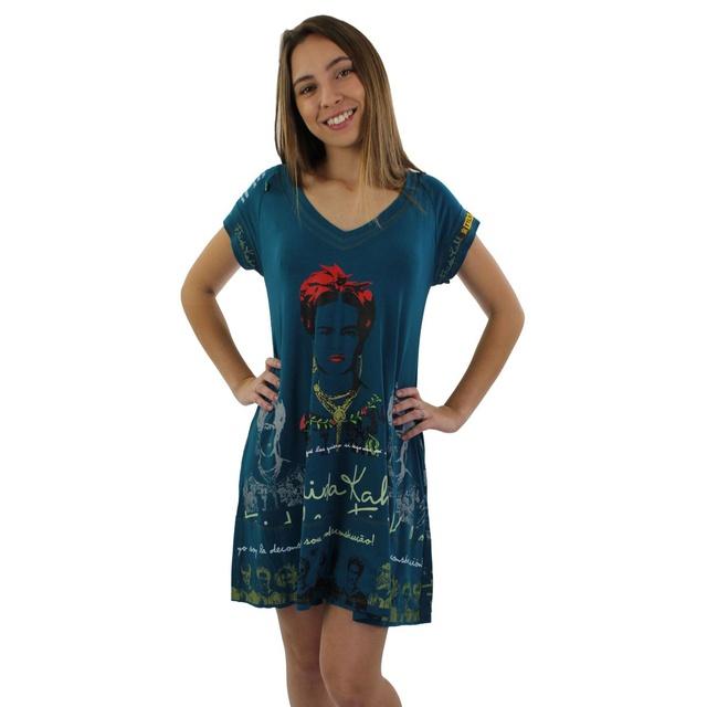 Vestido Frida Kahlo Azul