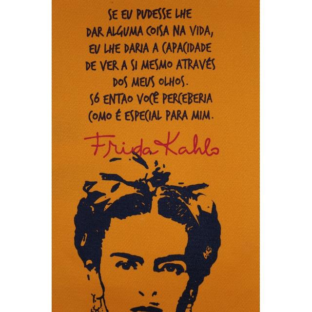 Flâmula Frida Kahlo Olhos Amarela