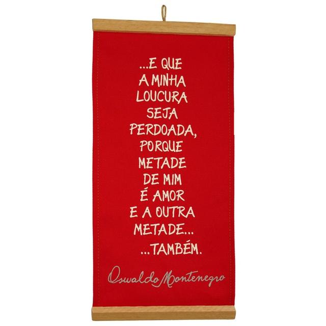 Flâmula Oswaldo Montenegro Vermelho